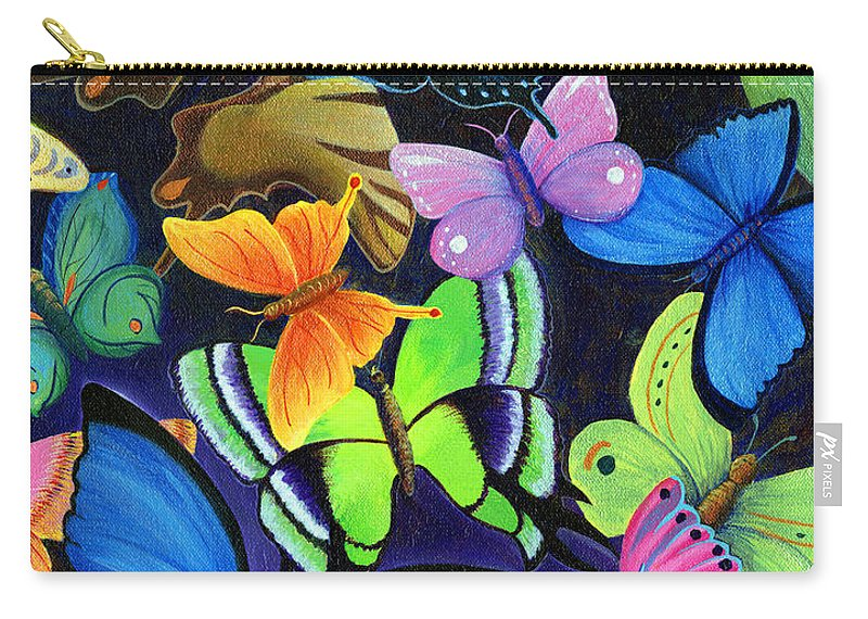 Jesus Carry-all Pouch featuring the painting Born Again by Nancy Cupp