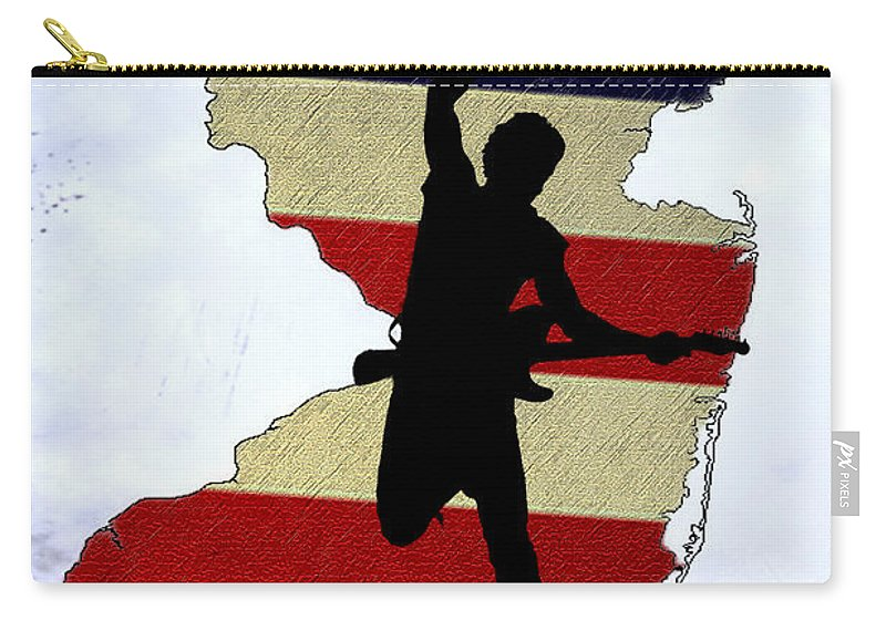 Born In New Jersey Carry-all Pouch featuring the photograph Born In New Jersey by Bill Cannon