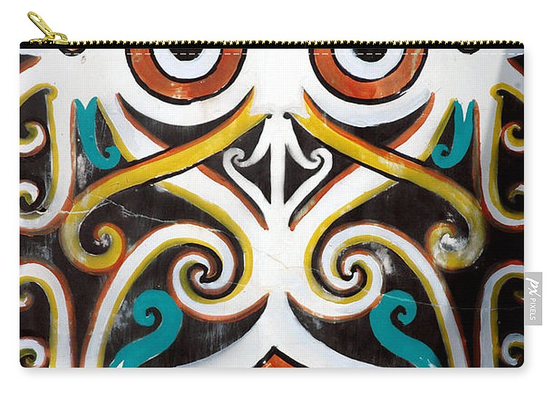 Dayak Carry-all Pouch featuring the photograph Borneo Shield Ornaments by Antoni Halim