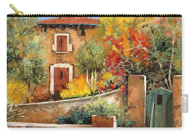 House Carry-all Pouch featuring the painting Bosco Giallo by Guido Borelli