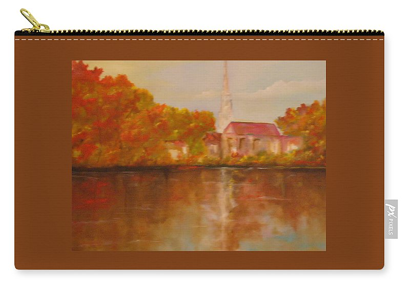 Church Carry-all Pouch featuring the painting Boston by Lord Frederick Lyle Morris - Disabled Veteran