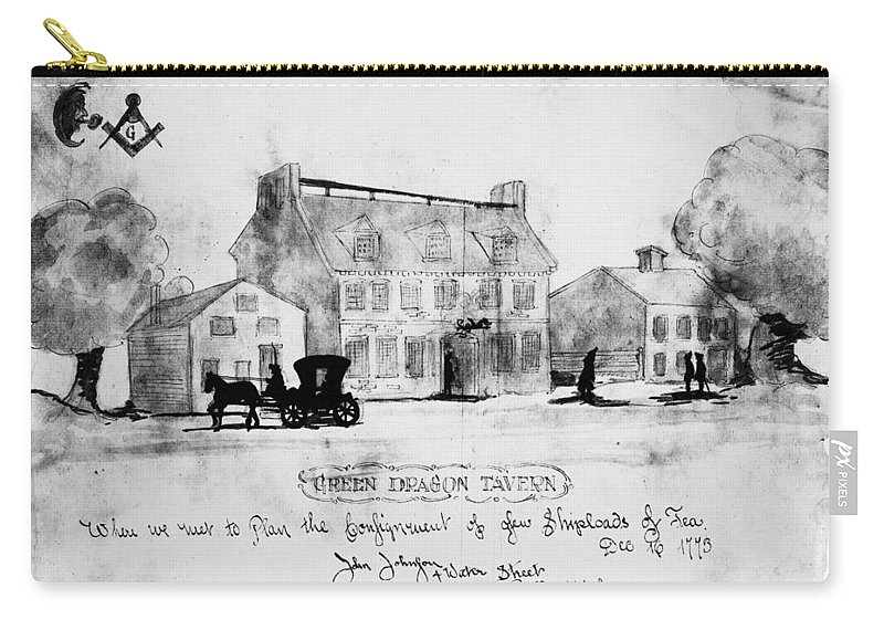 1773 Carry-all Pouch featuring the photograph Boston: Tavern, 1773 by Granger