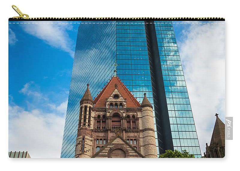 America Carry-all Pouch featuring the photograph Boston Trinity Church by Inge Johnsson