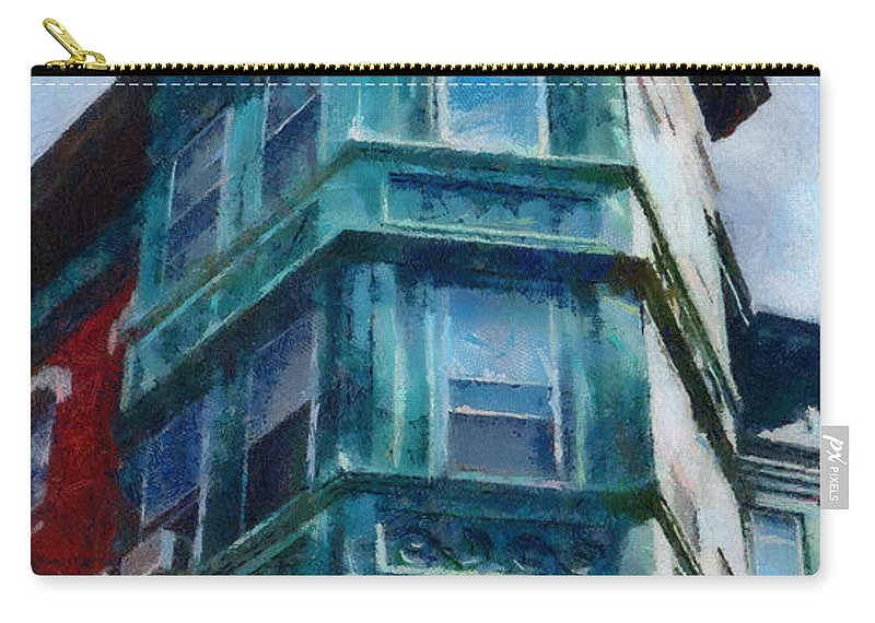 America Carry-all Pouch featuring the painting Boston's North End by Jeffrey Kolker