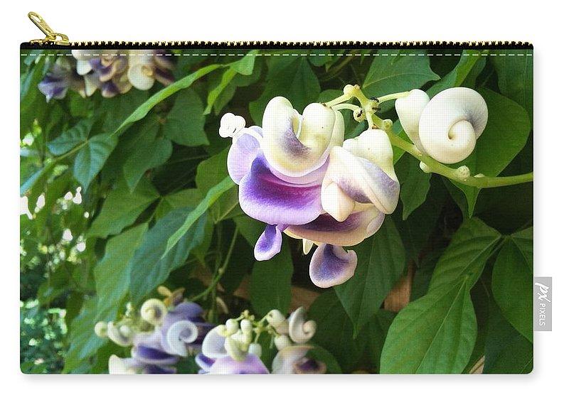 Botanic Garden Carry-all Pouch featuring the photograph Botanic Garden Flower by Lois Ivancin Tavaf