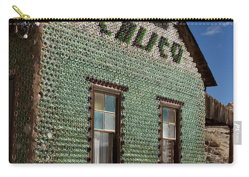 Travel Carry-all Pouch featuring the photograph Bottle House Calico California by Jason O Watson