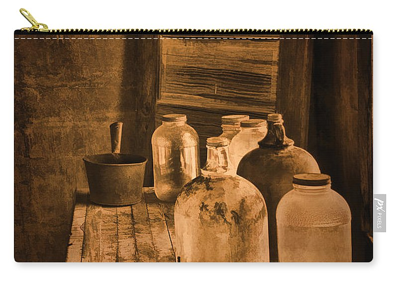 Bottles Carry-all Pouch featuring the photograph Bottled Up by Priscilla Burgers