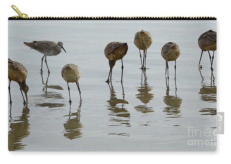 Bird Carry-all Pouch featuring the photograph Shorebirds 1 by Bob Christopher