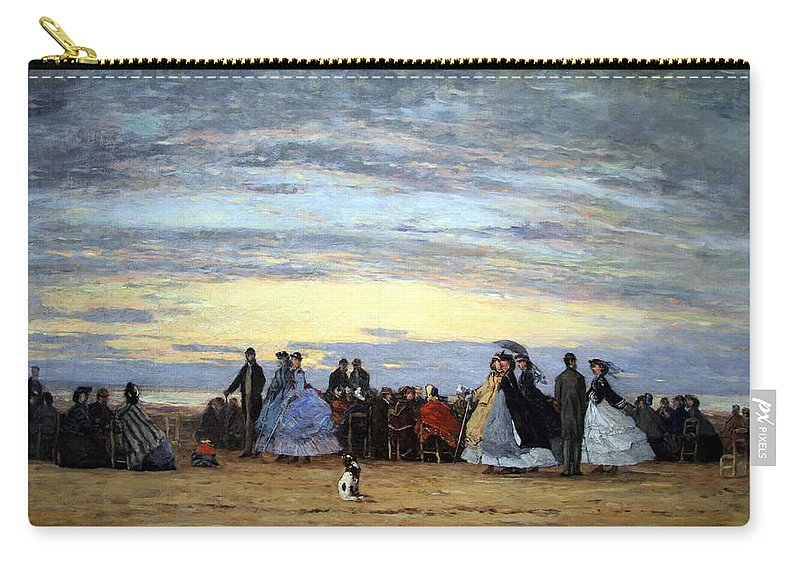 The Beach At Villerville Carry-all Pouch featuring the photograph Boudin's The Beach At Villerville by Cora Wandel