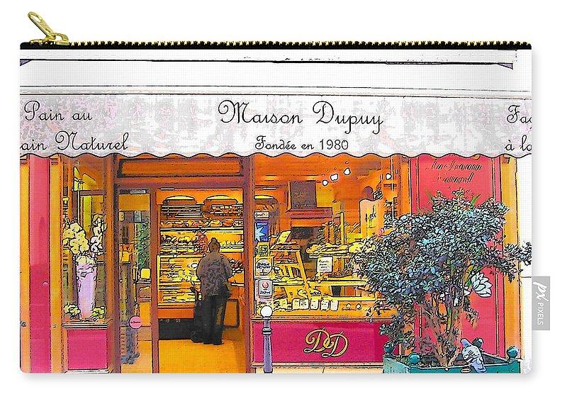 Paris Carry-all Pouch featuring the photograph Boulangerie Patisserie In Paris by Jan Matson