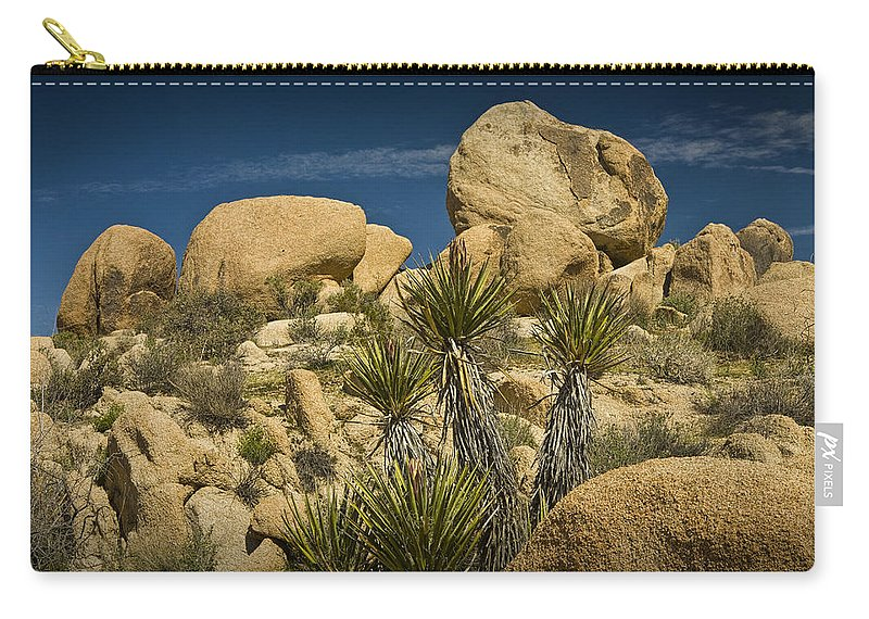 Art Carry-all Pouch featuring the photograph Boulders In The Joshua Tree National Park by Randall Nyhof