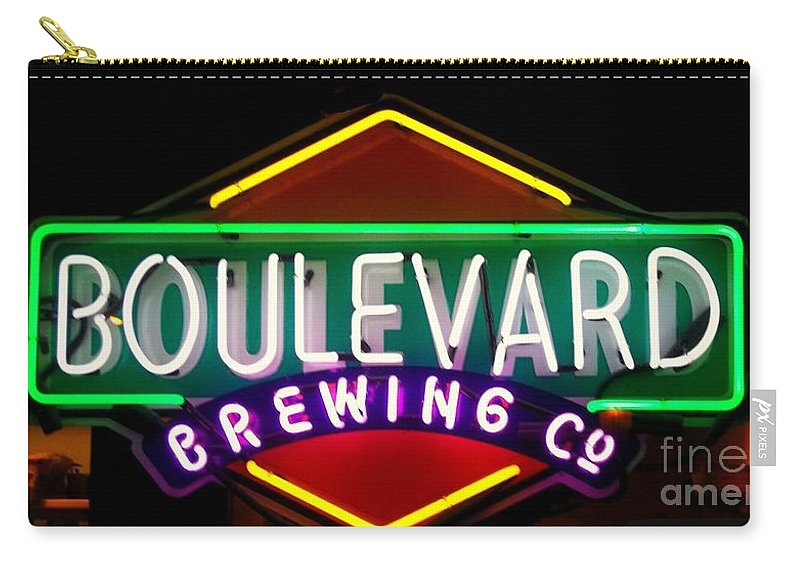 Boulevard Brewing Co. Carry-all Pouch featuring the photograph Boulevard Brewing by Kelly Awad