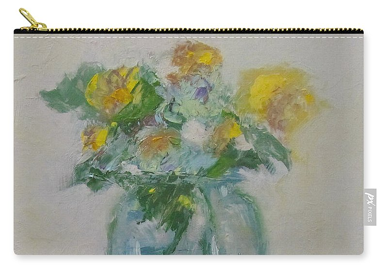 Flowers Carry-all Pouch featuring the painting Bouquet by Barbara Andolsek