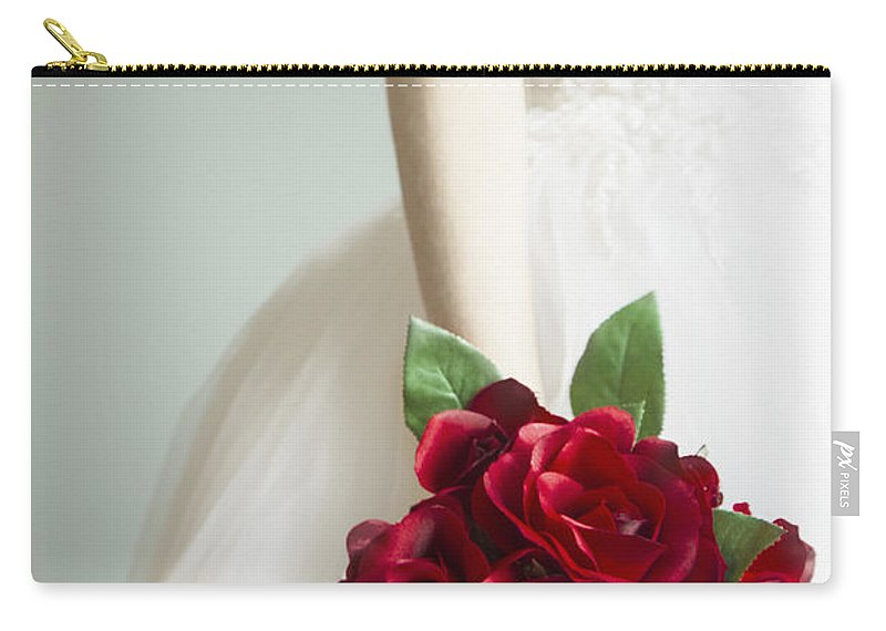 Caucasian Carry-all Pouch featuring the photograph Bouquet Of Roses by Margie Hurwich