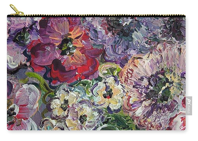Flower Carry-all Pouch featuring the painting Bouquet Of Sweetness by Eloise Schneider Mote