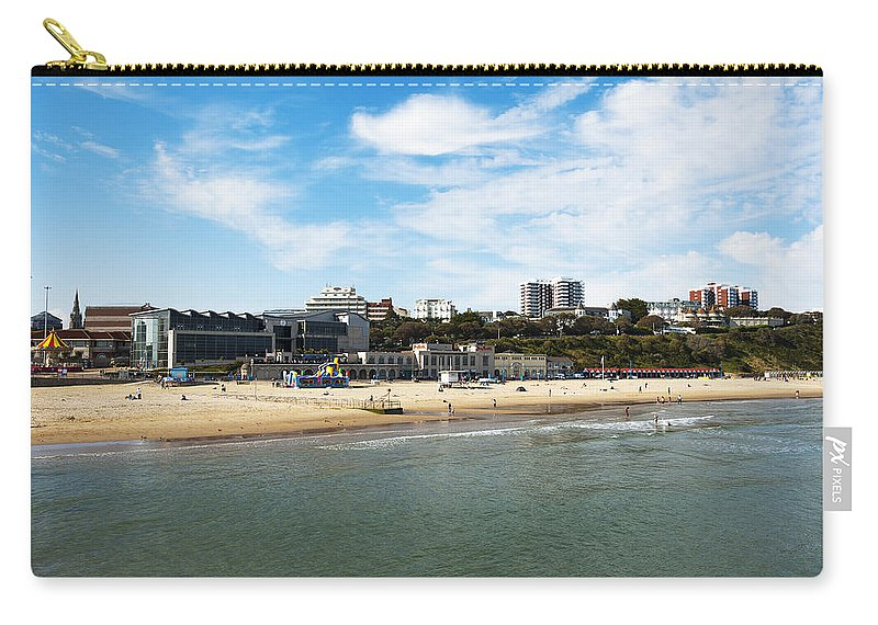 Activity Carry-all Pouch featuring the photograph Bournemouth Bay by Svetlana Sewell