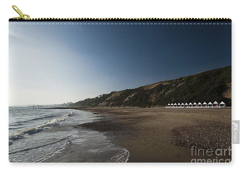 Autumn Carry-all Pouch featuring the photograph Bournemouth Beach Huts by Anne Gilbert