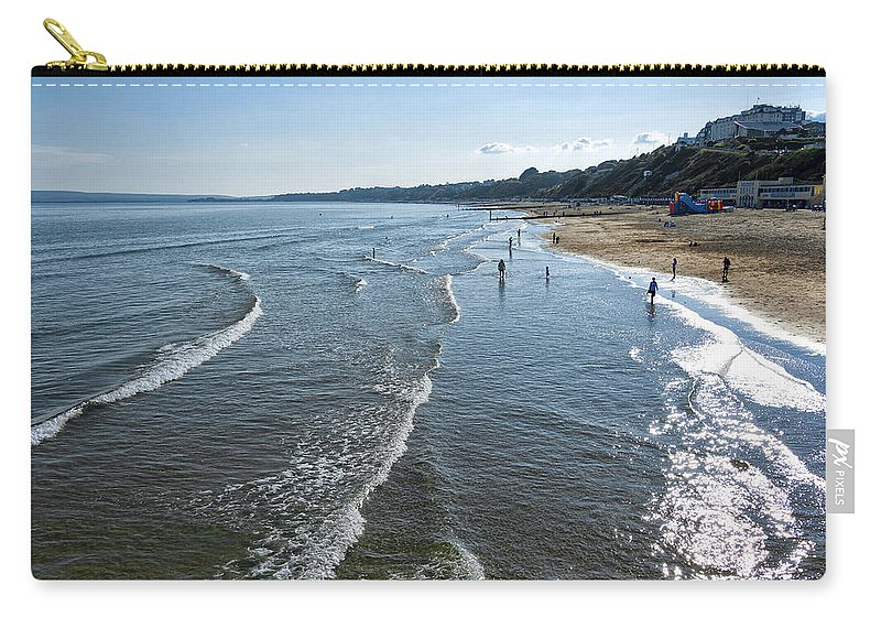 Activity Carry-all Pouch featuring the photograph Bournemouth Beach by Svetlana Sewell