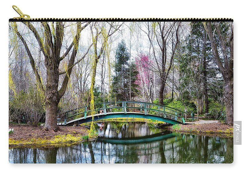 Bow Carry-all Pouch featuring the photograph Bow Bridge - Grounds For Schulpture by Bill Cannon
