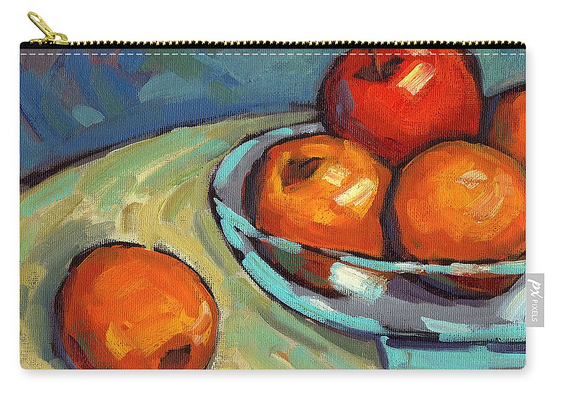 Lemons Carry-all Pouch featuring the painting Bowl Of Fruit 2 by Konnie Kim