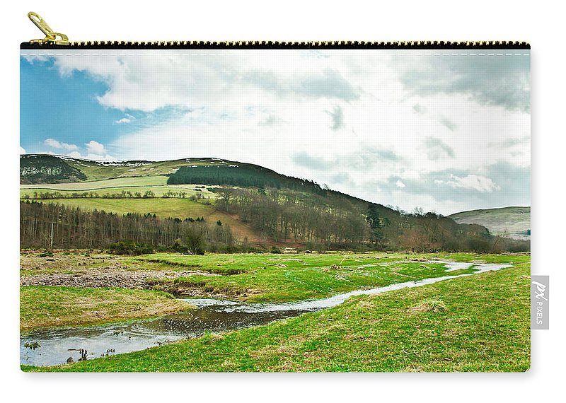 Adventure Carry-all Pouch featuring the photograph Bowmont Valley by Tom Gowanlock