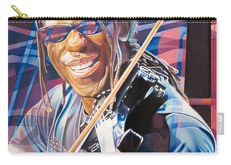Boyd Tinsley Carry-all Pouch featuring the drawing Boyd Tinsley And 2007 Lights by Joshua Morton
