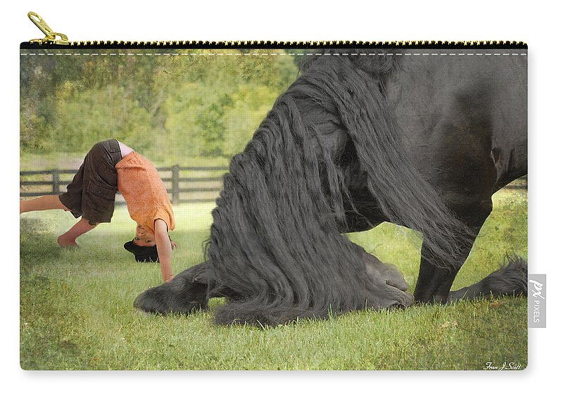 Friesian Carry-all Pouch featuring the photograph Boys will be Boys by Fran J Scott