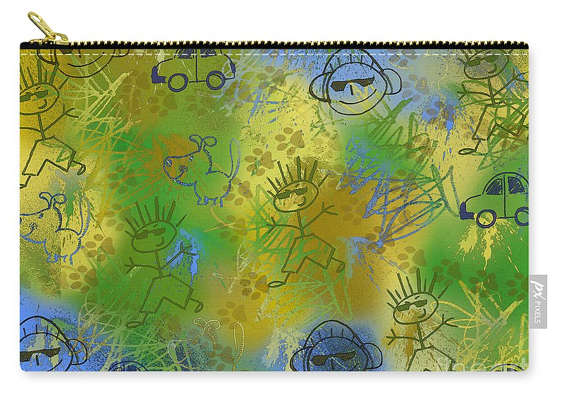 Abstract Carry-all Pouch featuring the photograph Boyz Only Abstract by Debbie Portwood