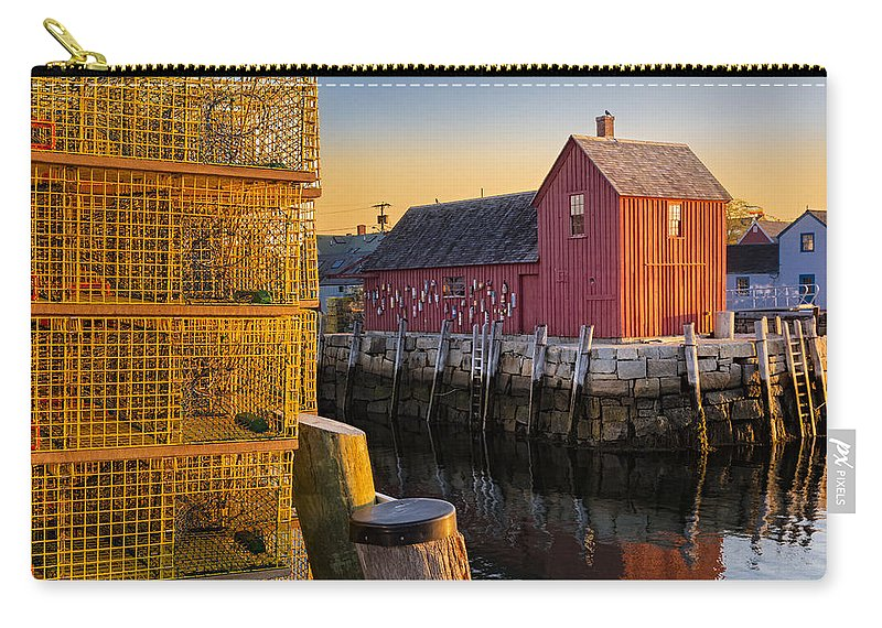 Motif No.1 Carry-all Pouch featuring the photograph Bradley Wharf Motif #1 by Susan Candelario