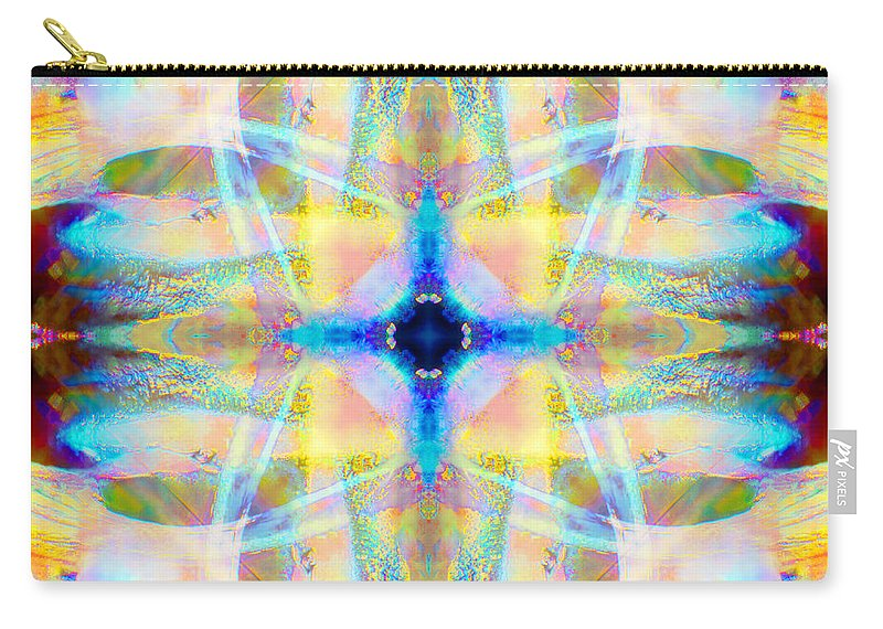Rainbow Carry-all Pouch featuring the photograph Brainbow Mandala by Susan Bloom