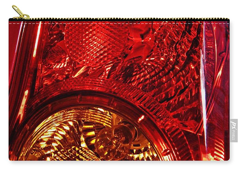 Glass Carry-all Pouch featuring the photograph Brake Light 45 by Sarah Loft