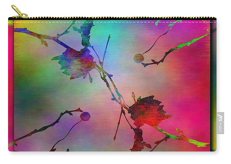 Abstract Carry-all Pouch featuring the digital art Branches In The Mist 26 by Tim Allen