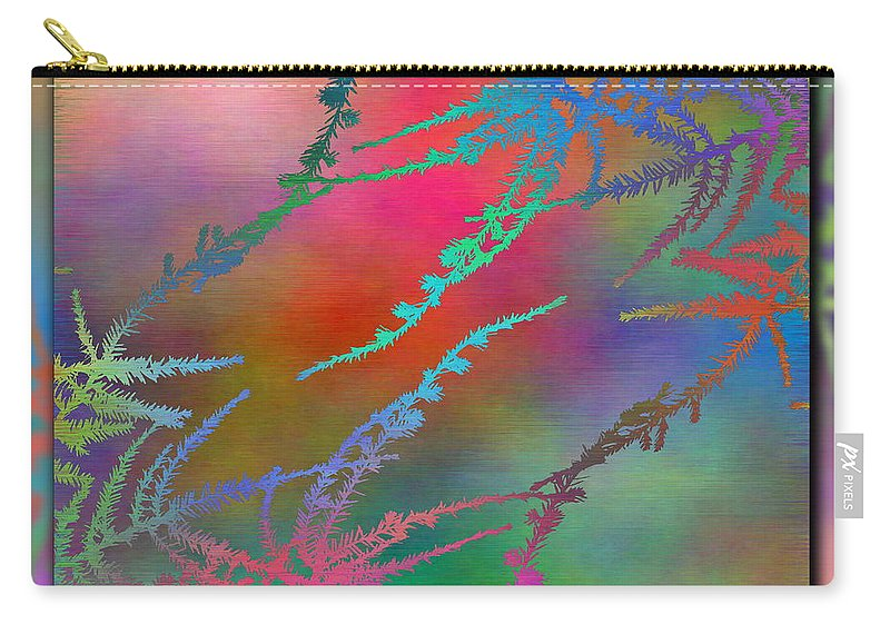 Abstract Carry-all Pouch featuring the digital art Branches In The Mist 28 by Tim Allen
