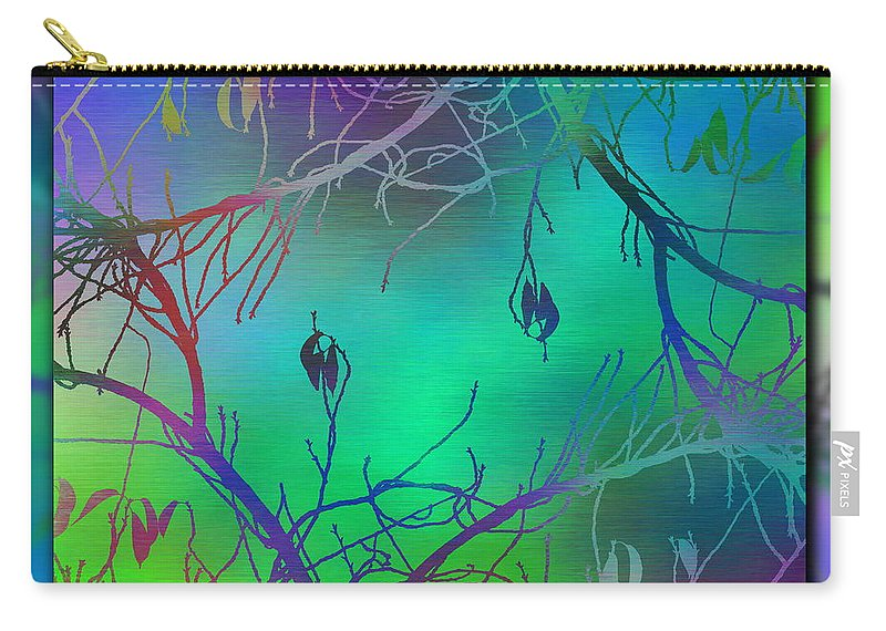 Abstract Carry-all Pouch featuring the digital art Branches In The Mist 35 by Tim Allen