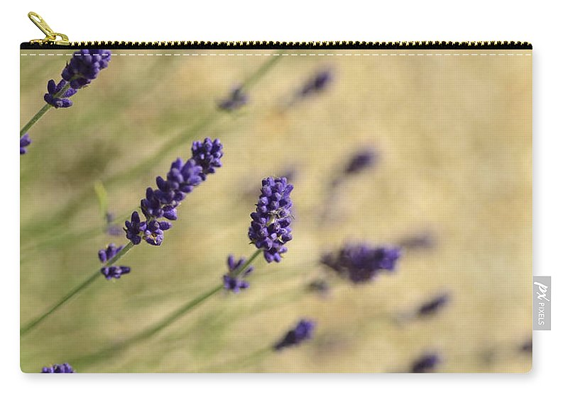 Field Carry-all Pouch featuring the photograph Branches Of Flowering Lavender by TouTouke A Y