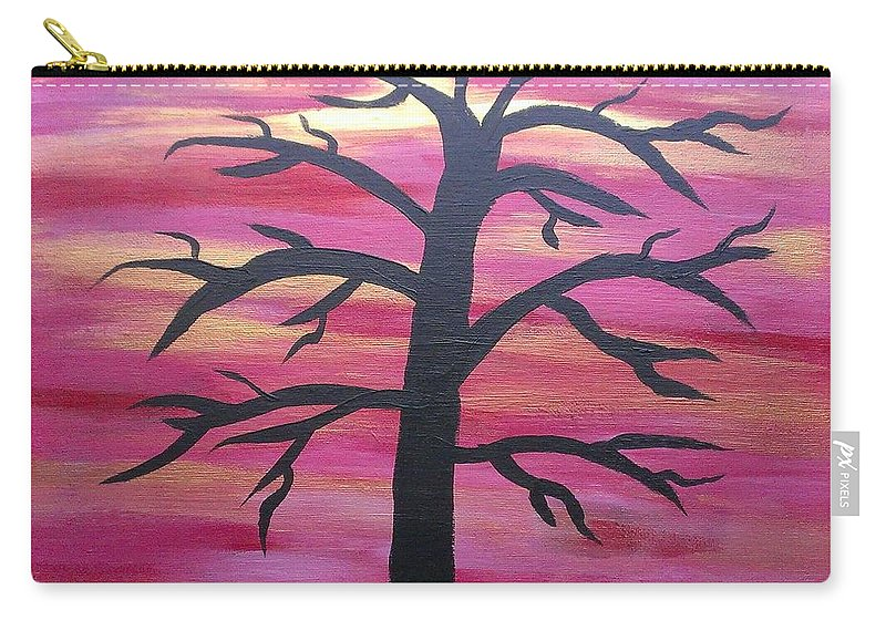 Silhouette Carry-all Pouch featuring the painting Branching Out Silhouette by Kevin Ramlogan