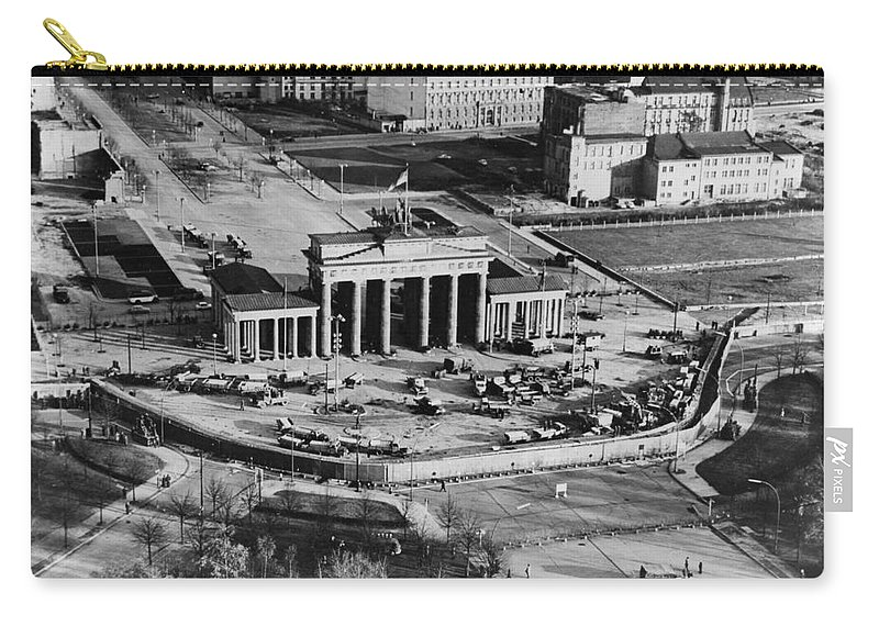 1961 Carry-all Pouch featuring the photograph Brandenburg Gate by Granger