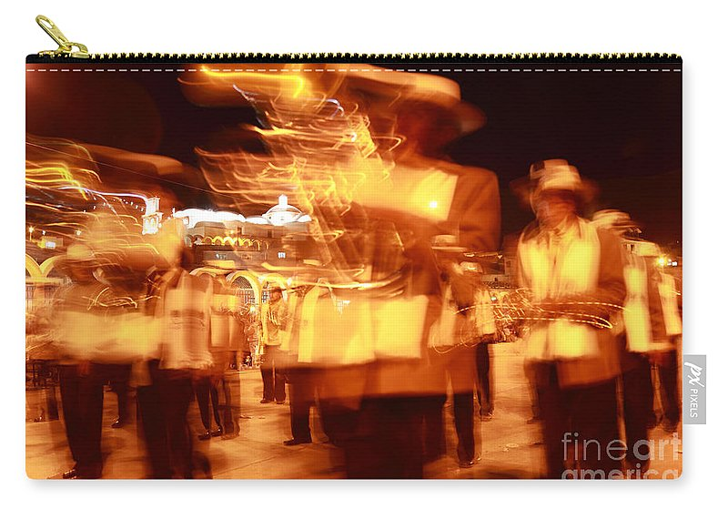 Brass Band Carry-all Pouch featuring the photograph Brass Band At Night by James Brunker