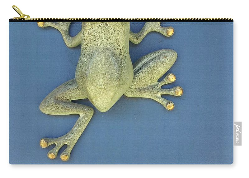 Found On A Door Carry-all Pouch featuring the photograph Brass Frog by Zac AlleyWalker Lowing