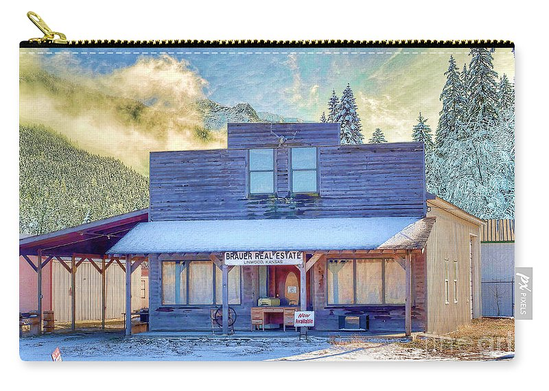 Brauer Real Estate Carry-all Pouch featuring the photograph Brauer Real Estate Linwood Kansas by Liane Wright