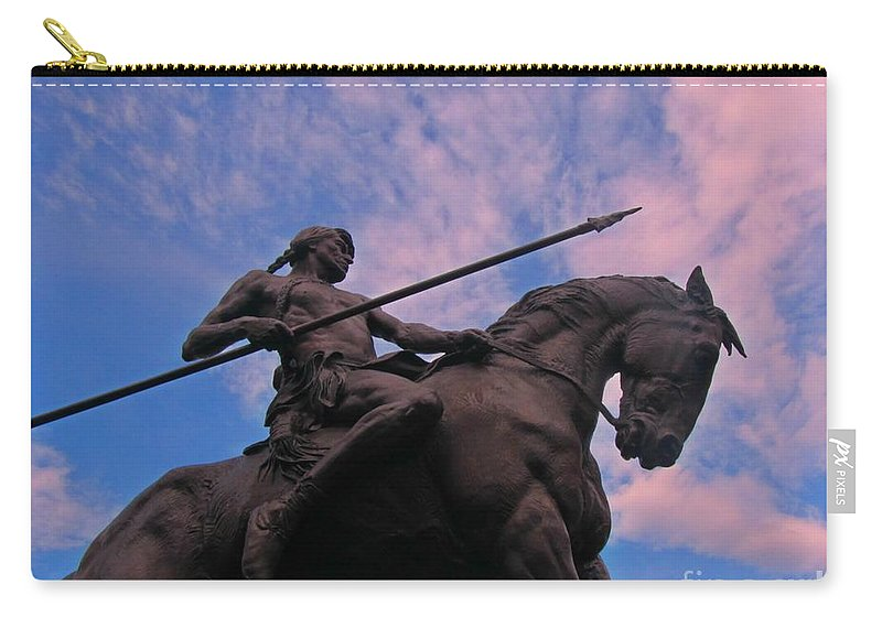 Sculpture Art Carry-all Pouch featuring the photograph Brave by John Malone