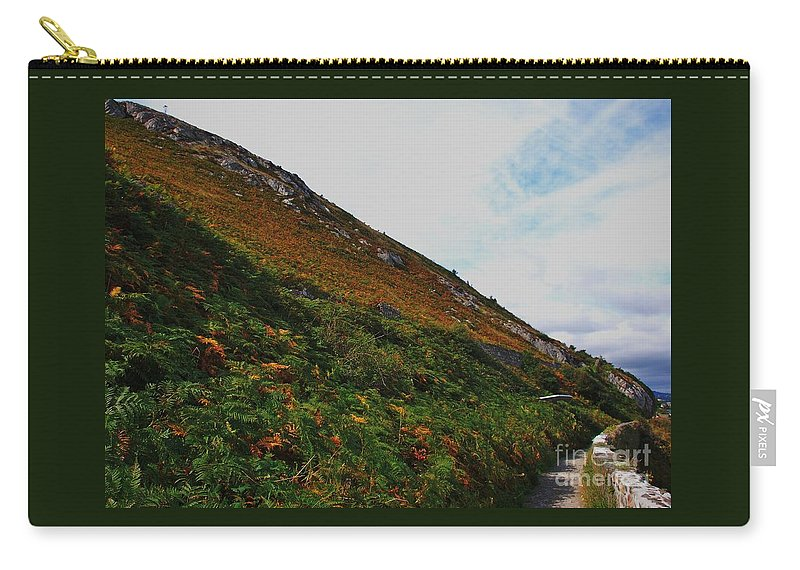 Bray Ireland Bray Head Landmark Winding Lane Gorse Steep Hill Granite Outcrops Outdoors Travel Hinking Adventure Destination Nature Iconic Landmark Scenic Canvas Print Metal Frame Poster Print Available On Greeting Cards T Shirts Tote Bags Coffee Mugs Duvet Covers Pouches Weekender Tote Bags And Shower Curtains Carry-all Pouch featuring the photograph Bray Head, Ireland by Marcus Dagan