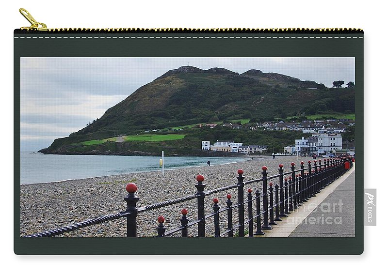 Art From Bray Ireland Seafront Travel Bray Head Destination Irish Sea Landscape Landmark Beach Stock Shot Railing Greeting Card Canvas Print Metal Frame Very Suitable Poster Print Available On Phone Cases Pouches Throw Pillows Tote Bags T Shirts Shower Curtains Duvet Covers Weekender Tote Bags And Mugs Carry-all Pouch featuring the photograph Bray Seafront, Ireland by Marcus Dagan
