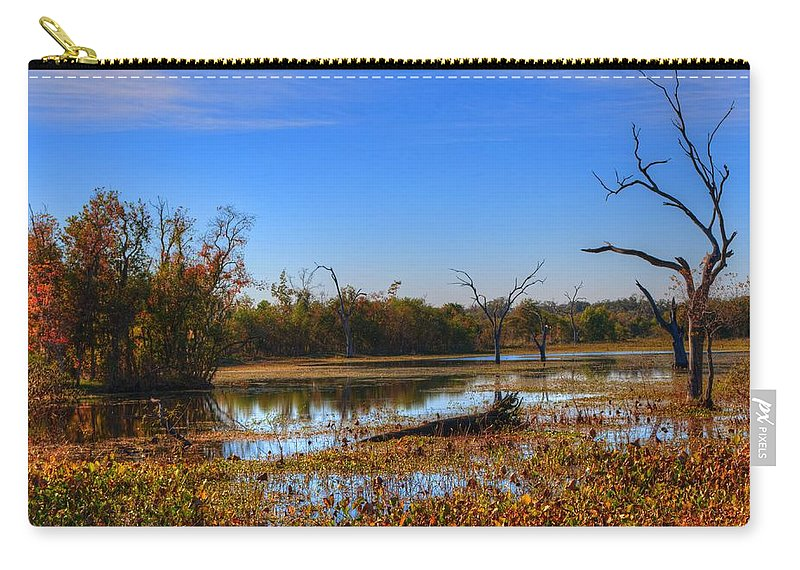Swamp Carry-all Pouch featuring the photograph Brazos Bend Swamp by David Morefield
