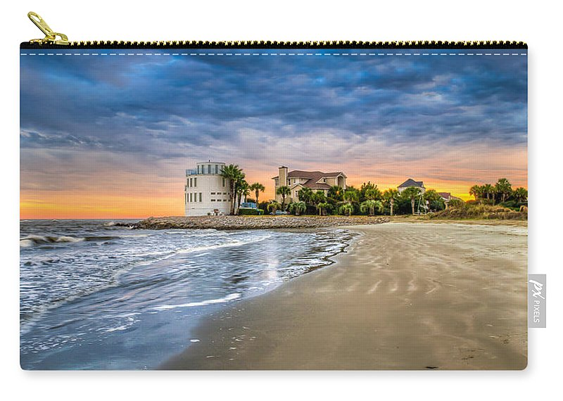 Breach Inlet Carry-all Pouch featuring the photograph Breach Inlet Sunset by Curtis Cabana