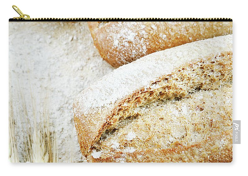 Breakfast Carry-all Pouch featuring the photograph Bread by Cactusoup