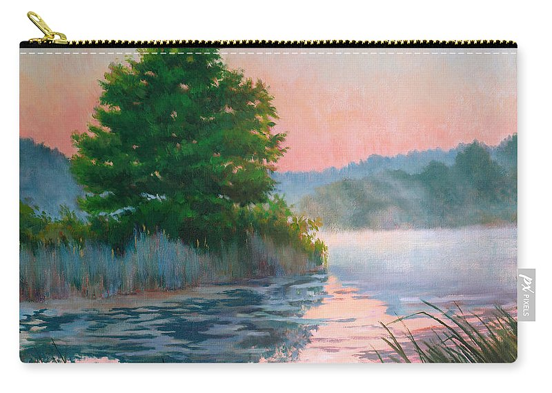 Impressionism Carry-all Pouch featuring the painting Break Of Day by Keith Burgess