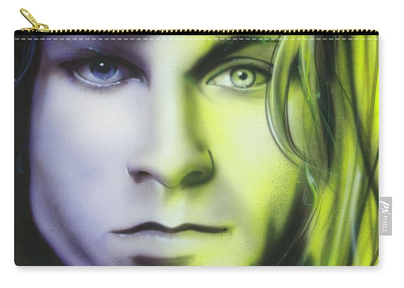 The Doors Carry-all Pouch featuring the painting Break On Through To Lithium by Christian Chapman Art