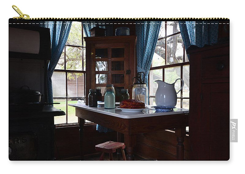 Breakfest Table Carry-all Pouch featuring the photograph Breakfast Nook by David Lee Thompson
