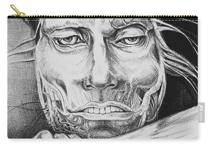 Lithograph Carry-all Pouch featuring the drawing Breaking Out by Yvonne Wright